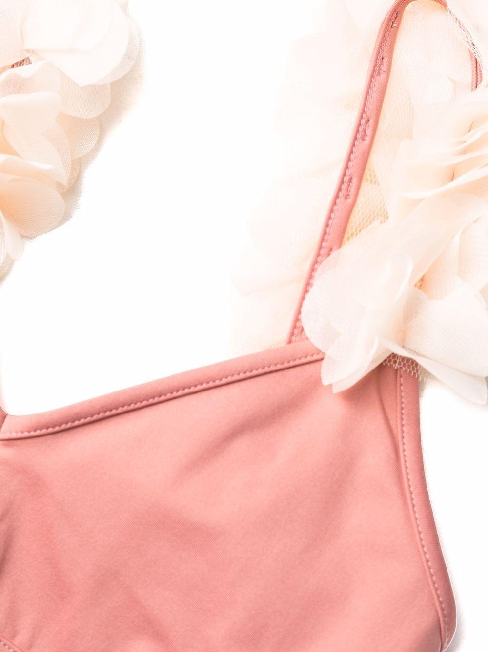 Old rose Aisha bikini featuring white floral detail LA REVECHE |  | AISHA HWOLD ROSE