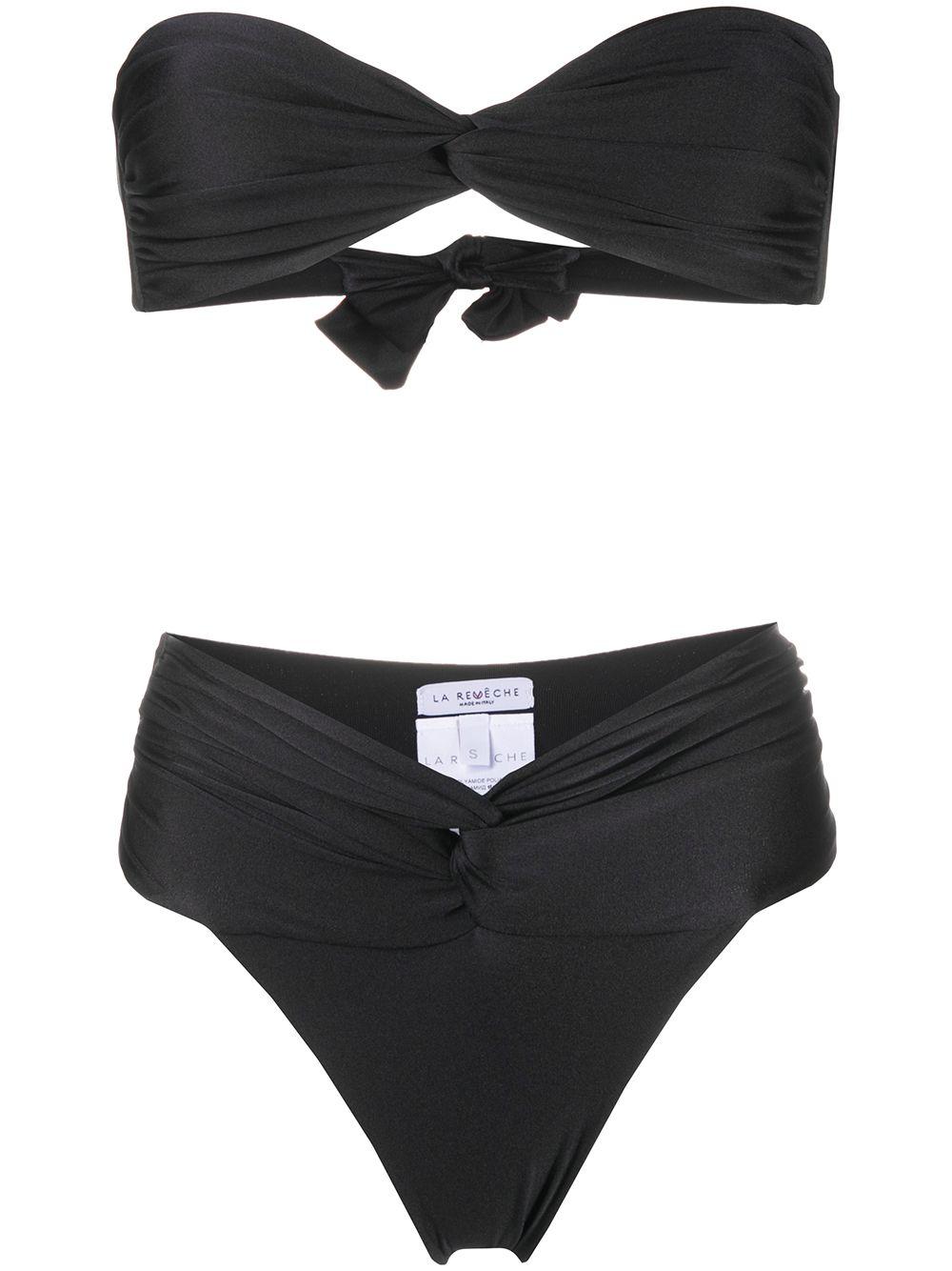 Black Amelie high-waisted bikini  LA REVECHE |  | AMELIEBLACK