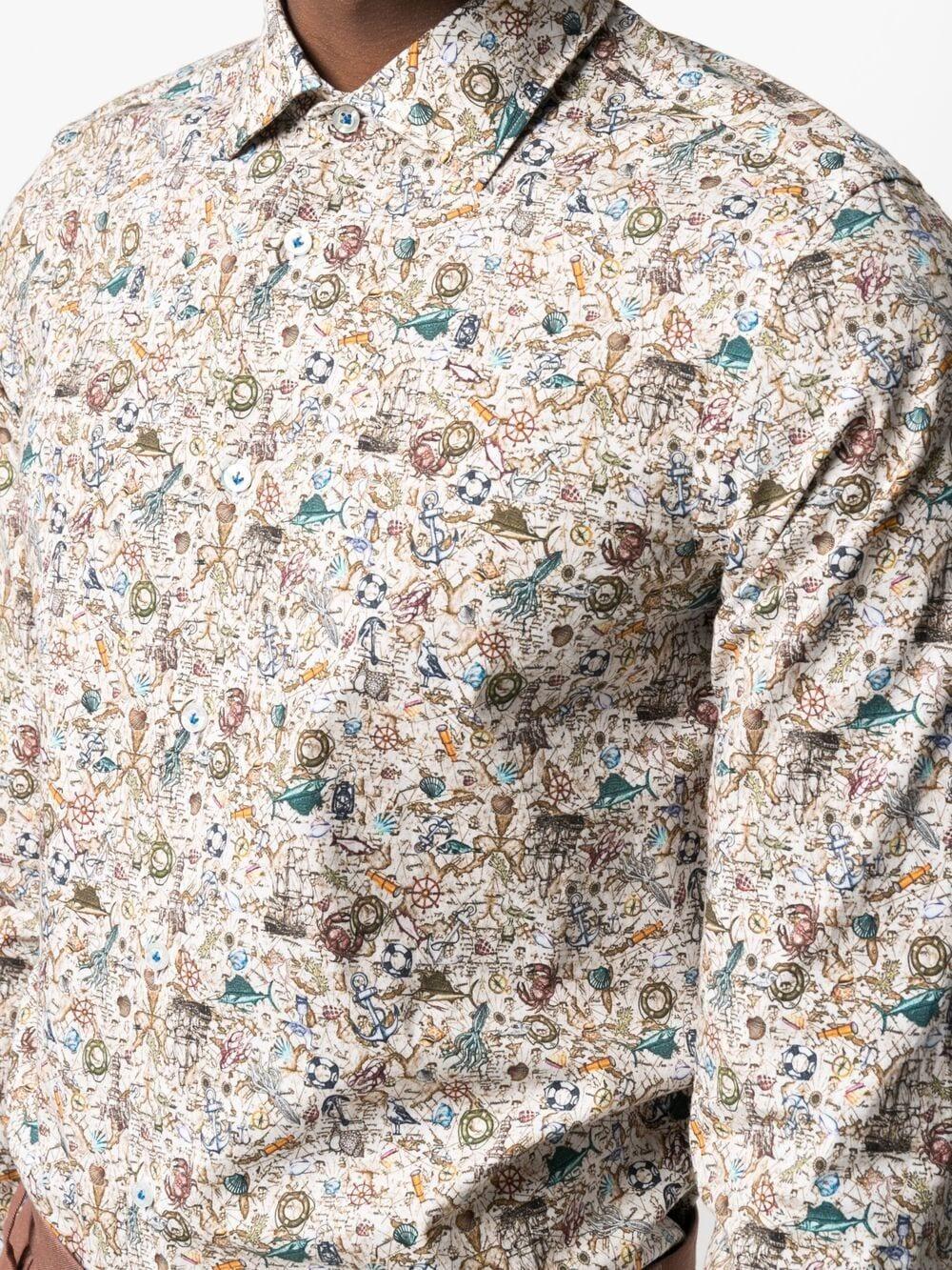Camicia a stampa floreale in cotone multicolor MANUEL RITZ | Camicie | 3032E602L-21325225