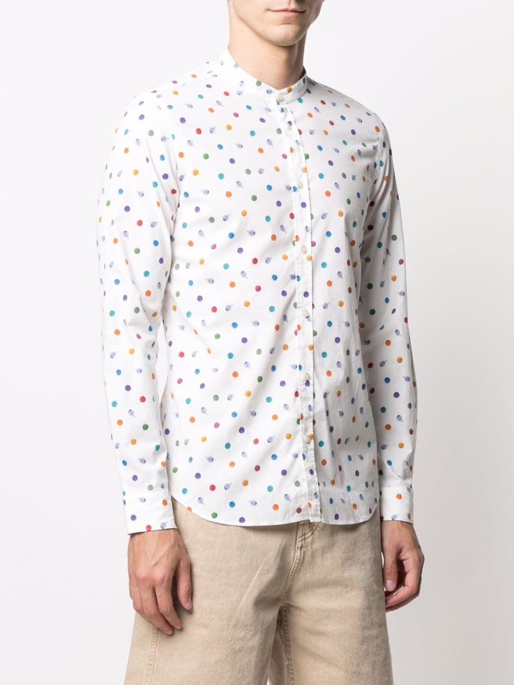 multicoloured cotton polka-dot collarless shirt  MANUEL RITZ |  | 3032E604L-21325102