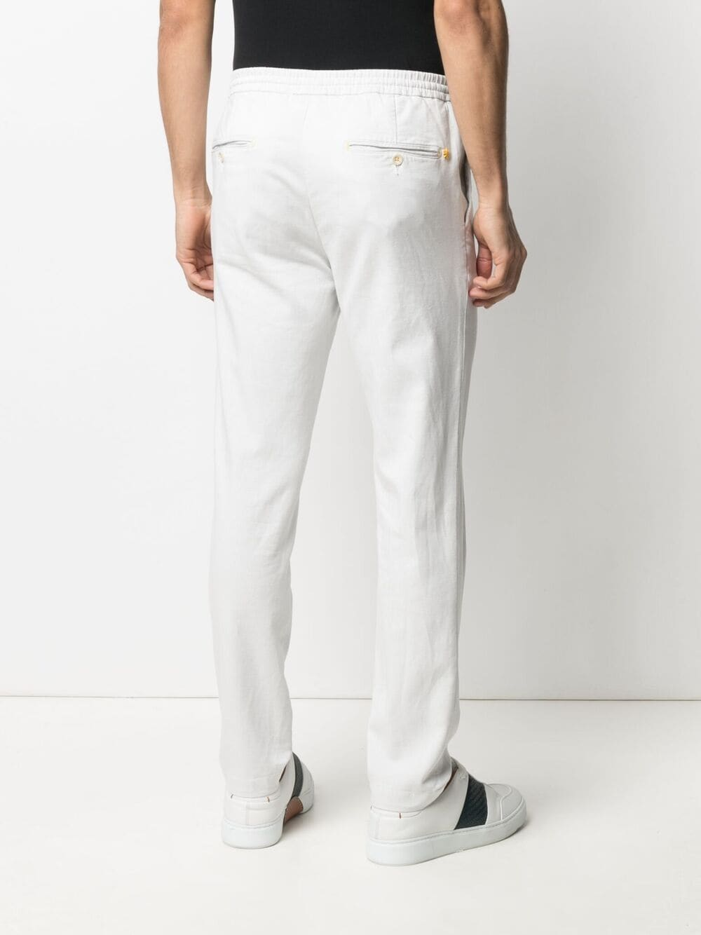 Off white cotton straight-leg trousers MANUEL RITZ |  | 3032P1688T-21300602