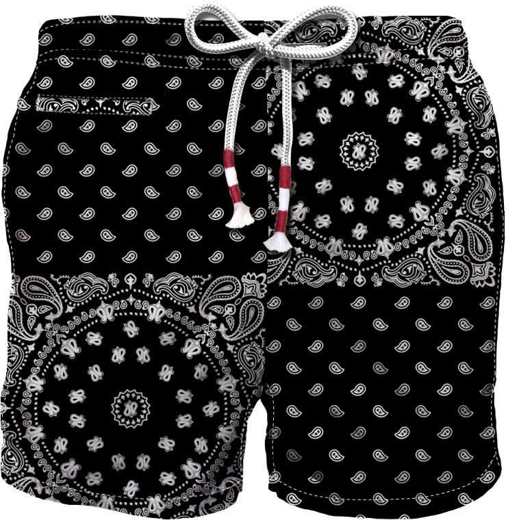 Black Bandana-print swim shorts  MC2 |  | CAPRESE-JUMBO FOULARD00