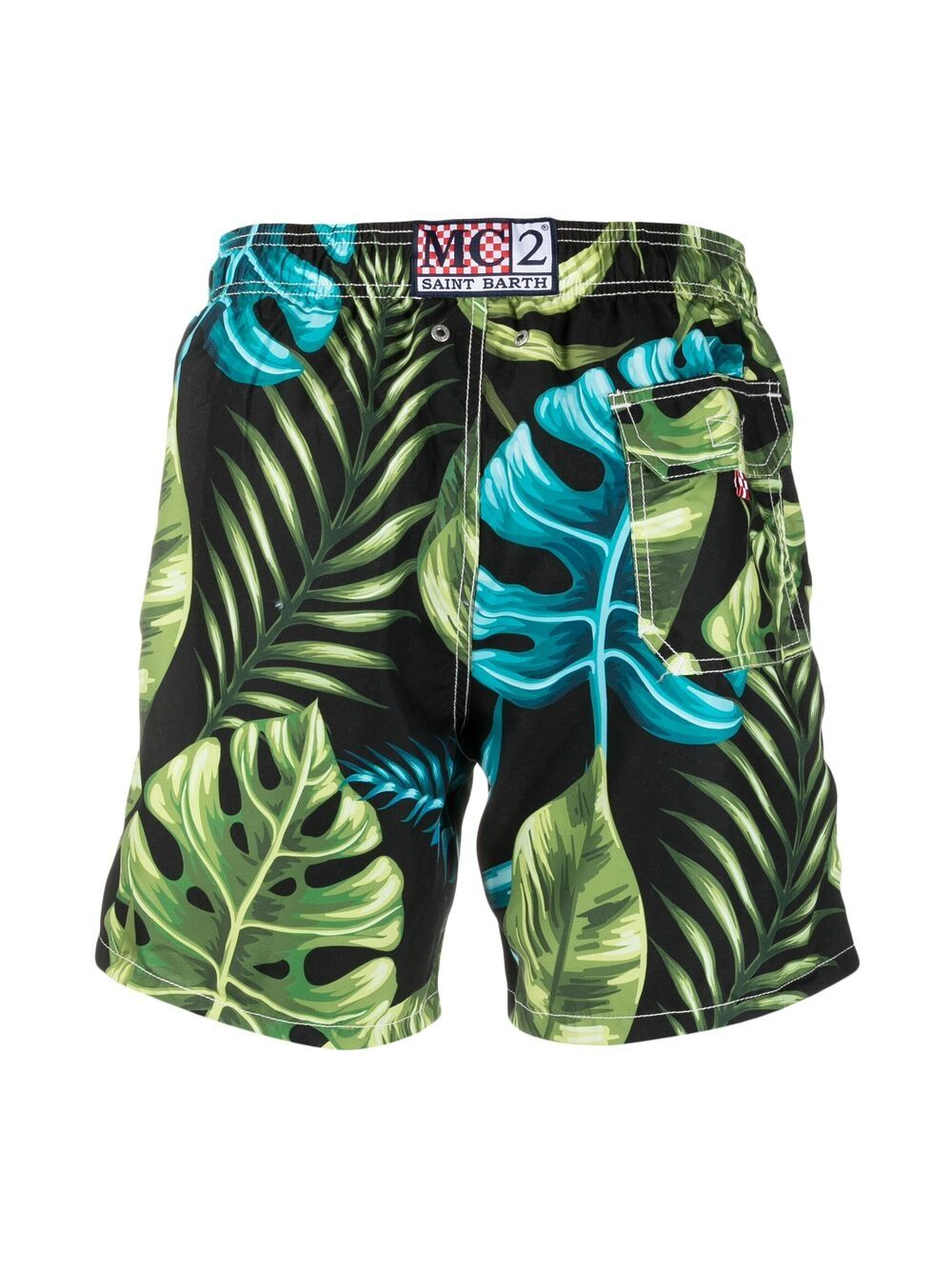Costume da bagno verde multicolor Gustavia Leaves MC2 | Costumi | GUSTAVIA-BICOLOR LEAVES00