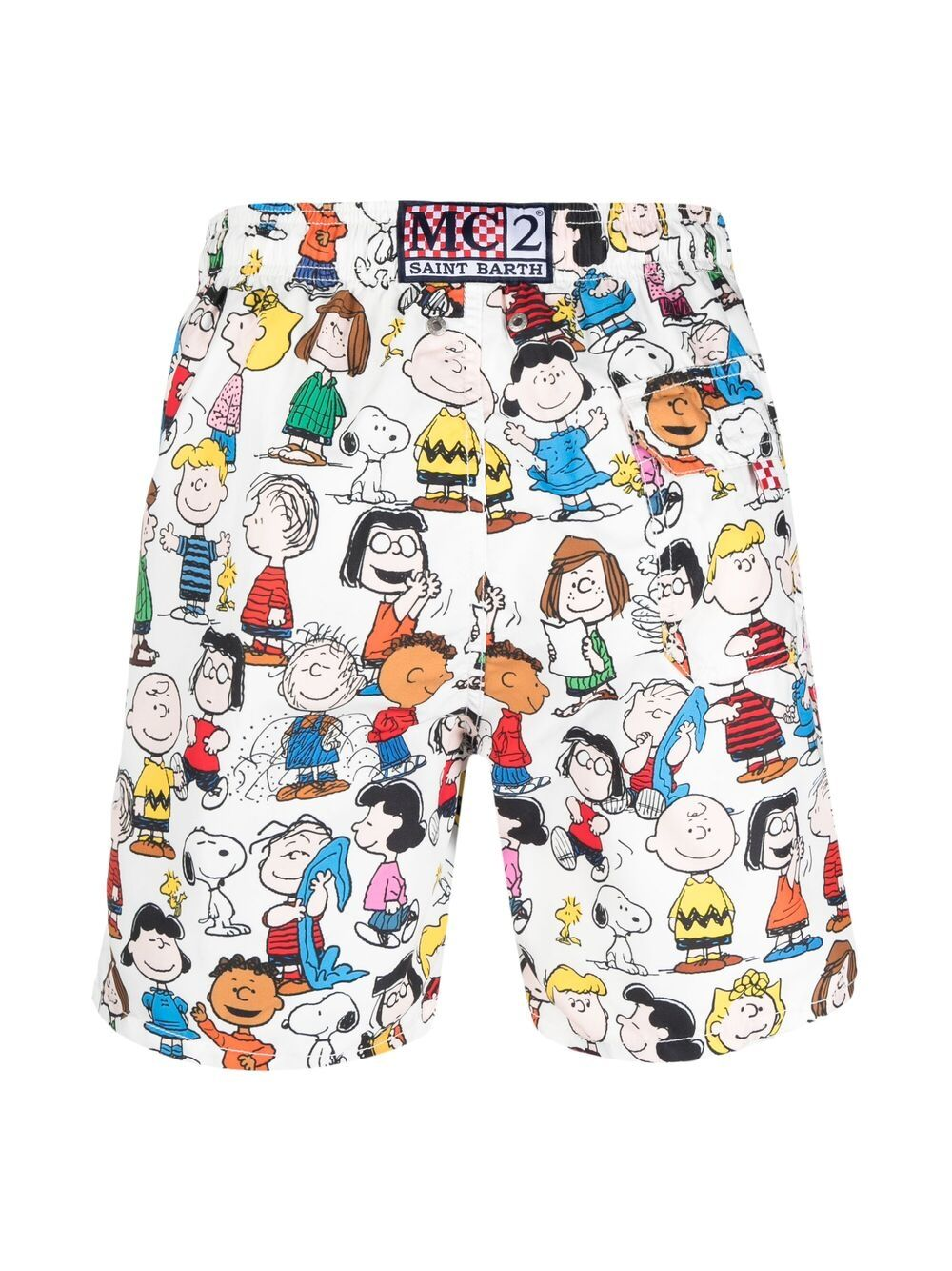 White and multicoloured Mc2 x Peanuts Collection swim shorts MC2 |  | GUSTAVIA-SNOOPY CREW01