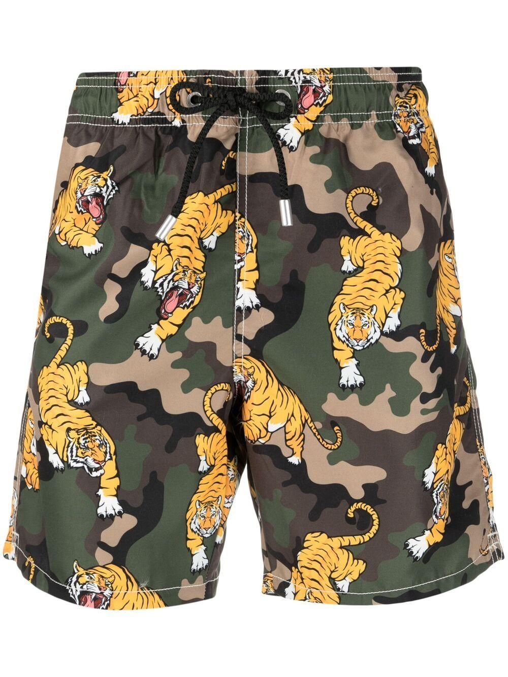 Pantaloncini da bagno mimetici multicolori Gustavia Tiger MC2 | Costumi | GUSTAVIA-VINTAGE MIM TIGER52