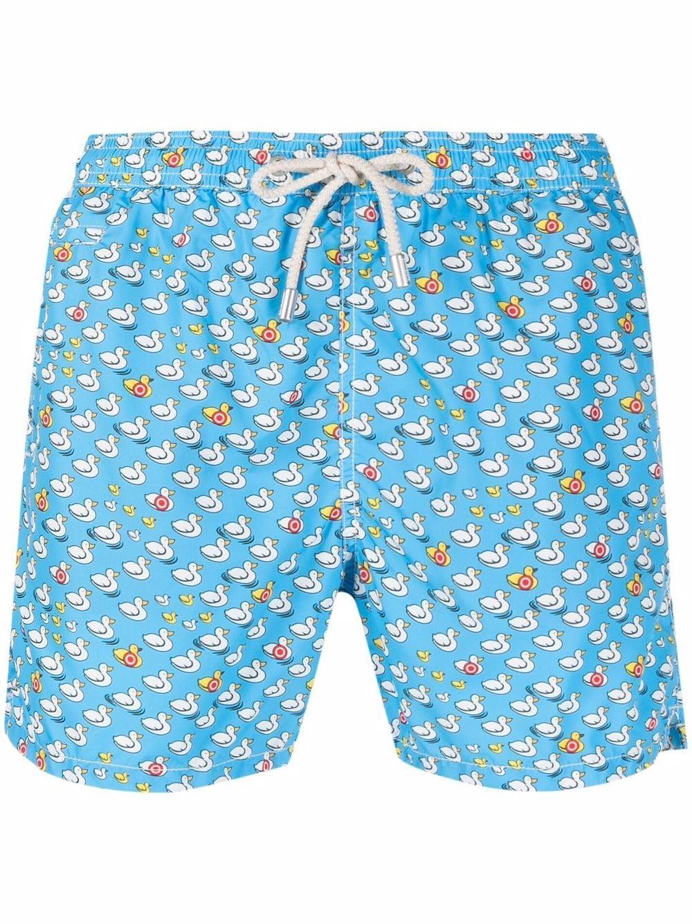 Shorts da bagno azzurri in poliestere riciclato elasticizzato MC2   Costumi   LIGHTING MICRO FANTASY-CIBLE17