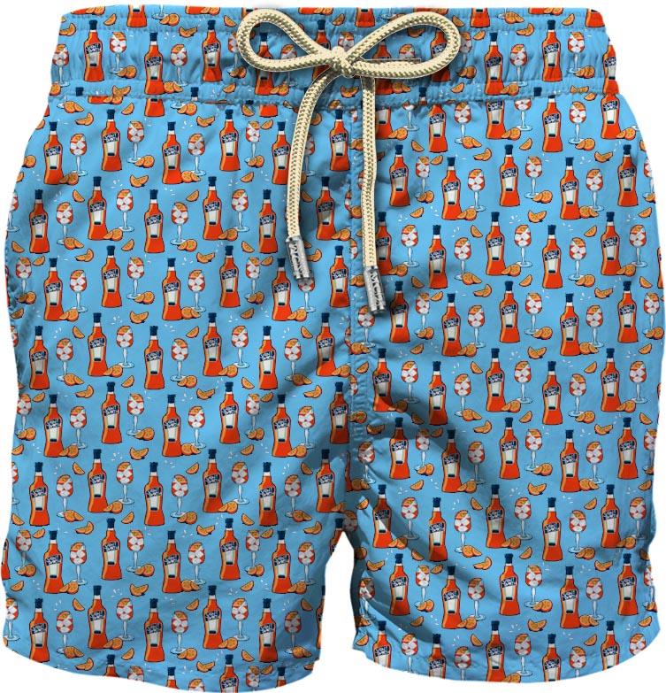 Pantaloncini da bagno in poliestere riciclato turchese con stampa Spritz MC2 | Costumi | LIGHTING MICRO FANTASY-HAPPY HOUR31