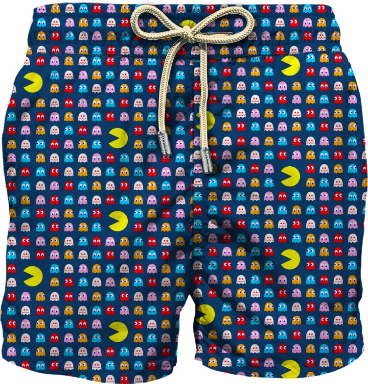 Navy blue recycled material Hungry swim shorts  MC2 |  | LIGHTING MICRO FANTASY-HUNGRY MINI61