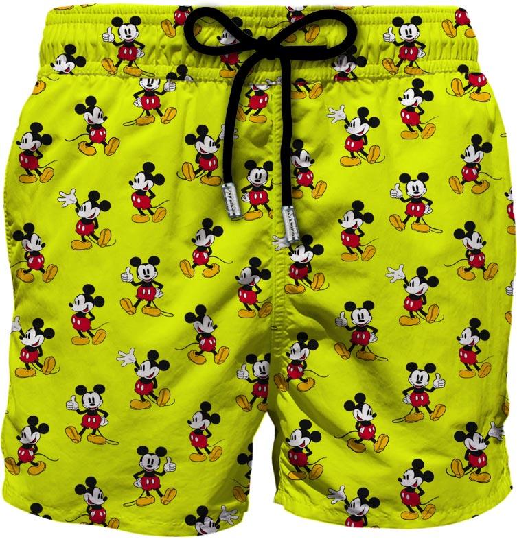 Pantaloncini da bagno giallo fluo in poliestere riciclato Lighting Mickey Mouse MC2 | Costumi | LIGHTING MICRO FANTASY-MICKEY LOOP94