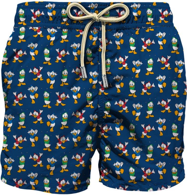 Navy-blue recycled polyester Lighthing Duck print swim shorts  MC2 |  | LIGHTING MICRO FANTASY-QUI QUO QUA61