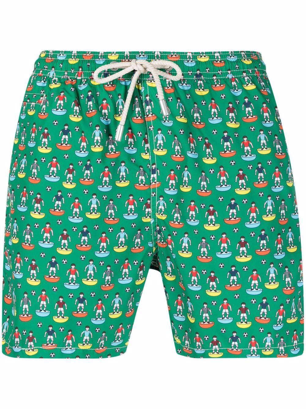 pantaloncini da bagno verdi in poliestere riciclato con stampa Subbuteo MC2 | Costumi | LIGHTING MICRO FANTASY-SUBBUT51
