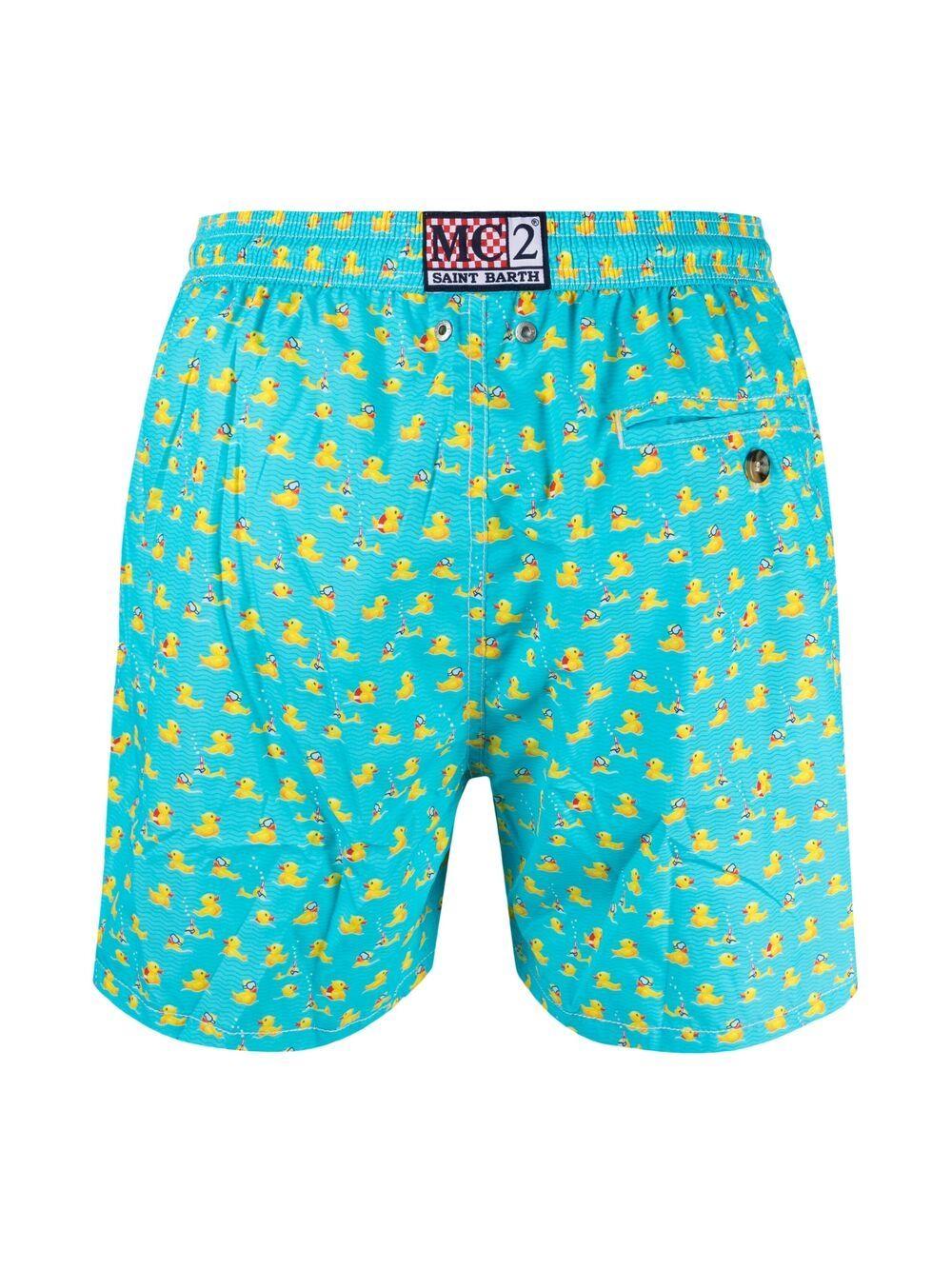 Pantaloncini da bagno blu in poliestere riciclato Swimmer Ducky MC2 | Costumi | LIGHTING MICRO FANTASY-SWIMMER DUCKY31