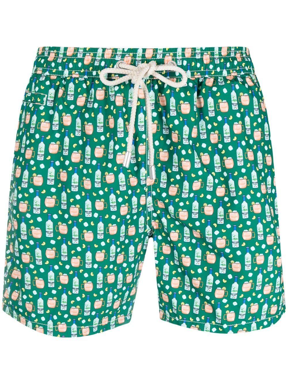 green recycled polyester Lighting Vodka graphic-print swim shorts  MC2 |  | LIGHTING MICRO FANTASY-VODKA MULE51