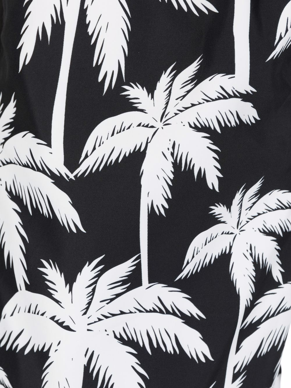 Black and white recycled polyester  swim shorts featuring palm tree print MC2 |  | LIGHTING SUBMARINE-PALMERA0001