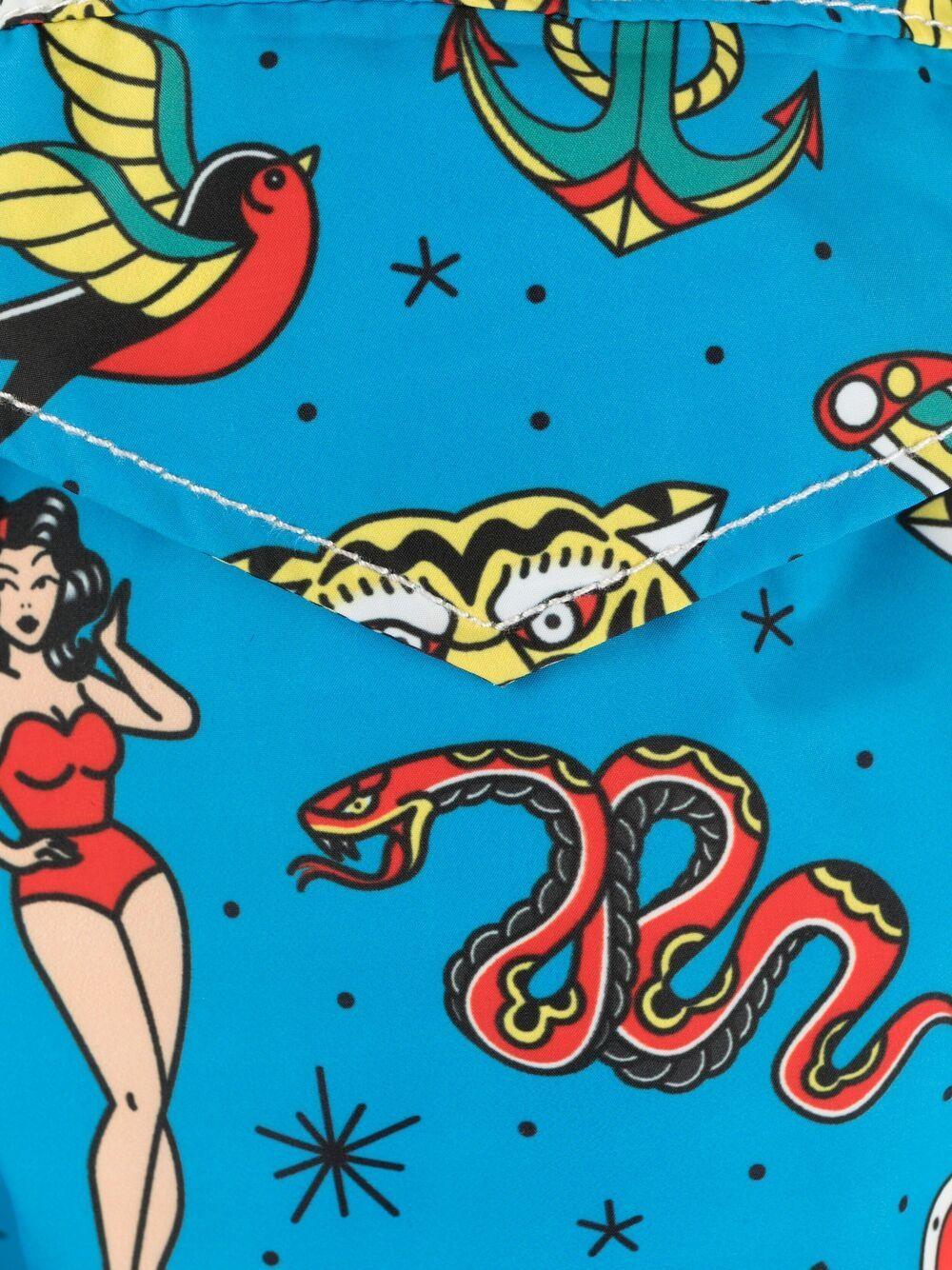 costume da bagno blu con stampa grafica Old School Tattoo MC2 | Costumi | LIGHTING-OLD SCHOOL17