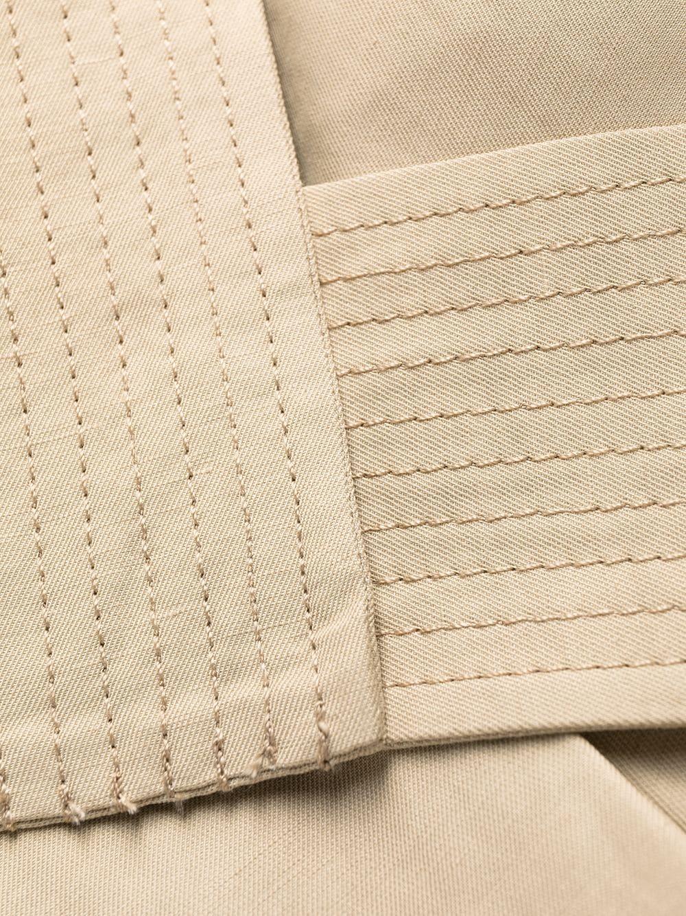 Pantaloncini a vita alta beige chiaro con cintura annodata P.A.R.O.S.H.   Shorts   D210080-RAISA004