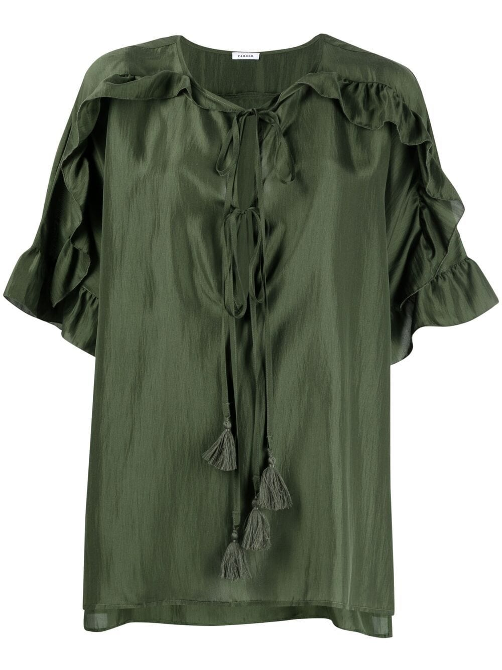 Blusa in seta Shatay in seta verde oliva  P.A.R.O.S.H. |  | D312241-SHATAY007