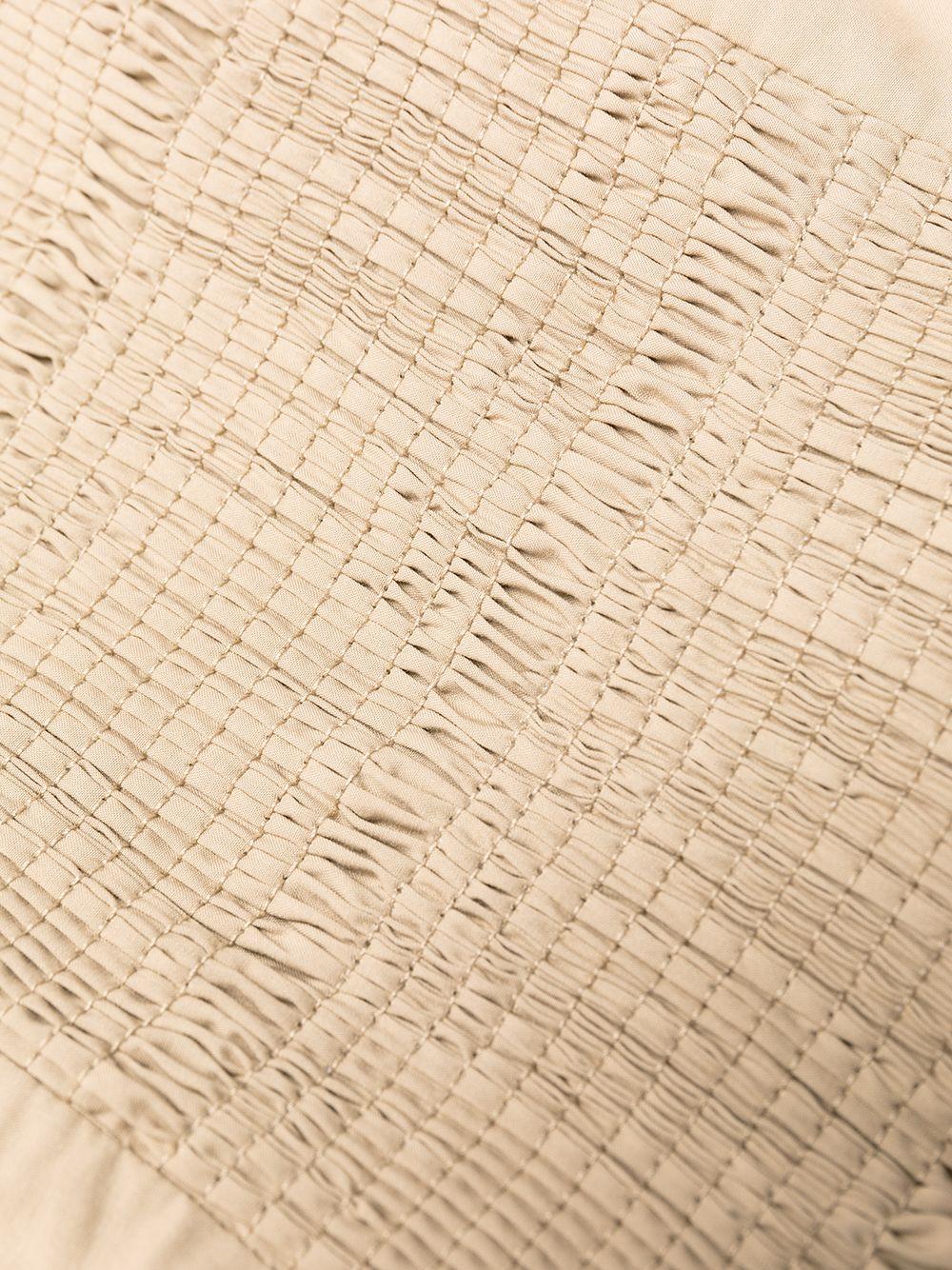 Abito midi in cotone beige con scollo quadrato P.A.R.O.S.H. | Abiti | D724065-CANYOX004