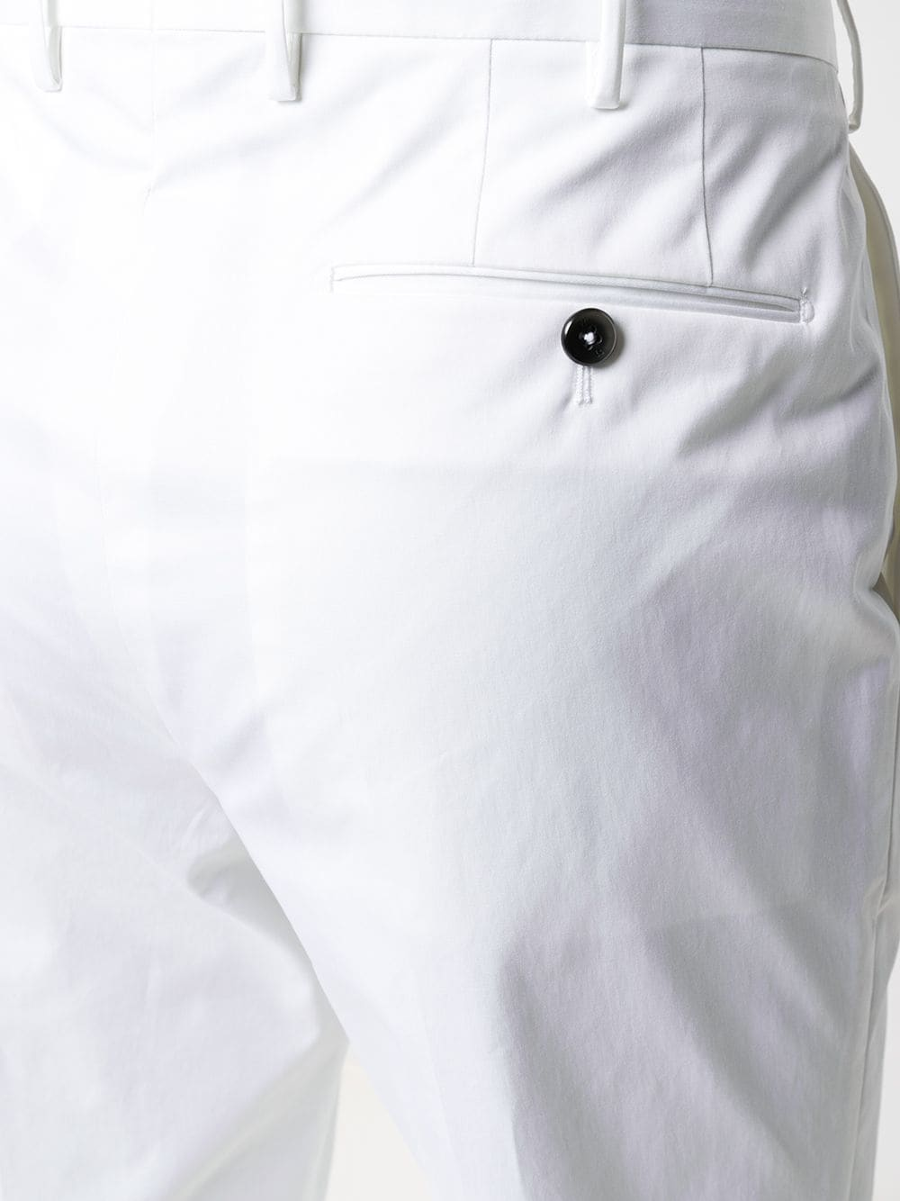 Pantaloni sartoriali a gamba dritta in cotone stretch bianco PT01 | Pantaloni | COASFKZ00CL1-MP270010