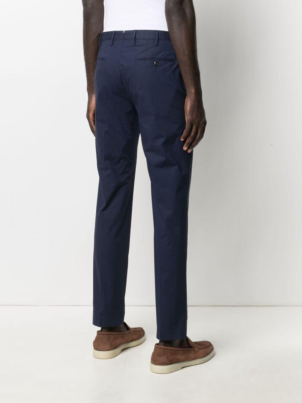 Pantaloni chino slim fit in cotone elasticizzato blu navy PT01   Pantaloni   COKLZEZ00CL1-BP230360