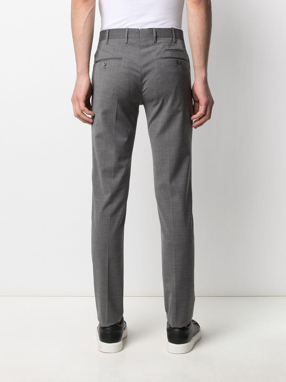 Melange grey stretch wool blend low-rise skinny trousers PT01 |  | COKSTVZ00TVL-PO350230