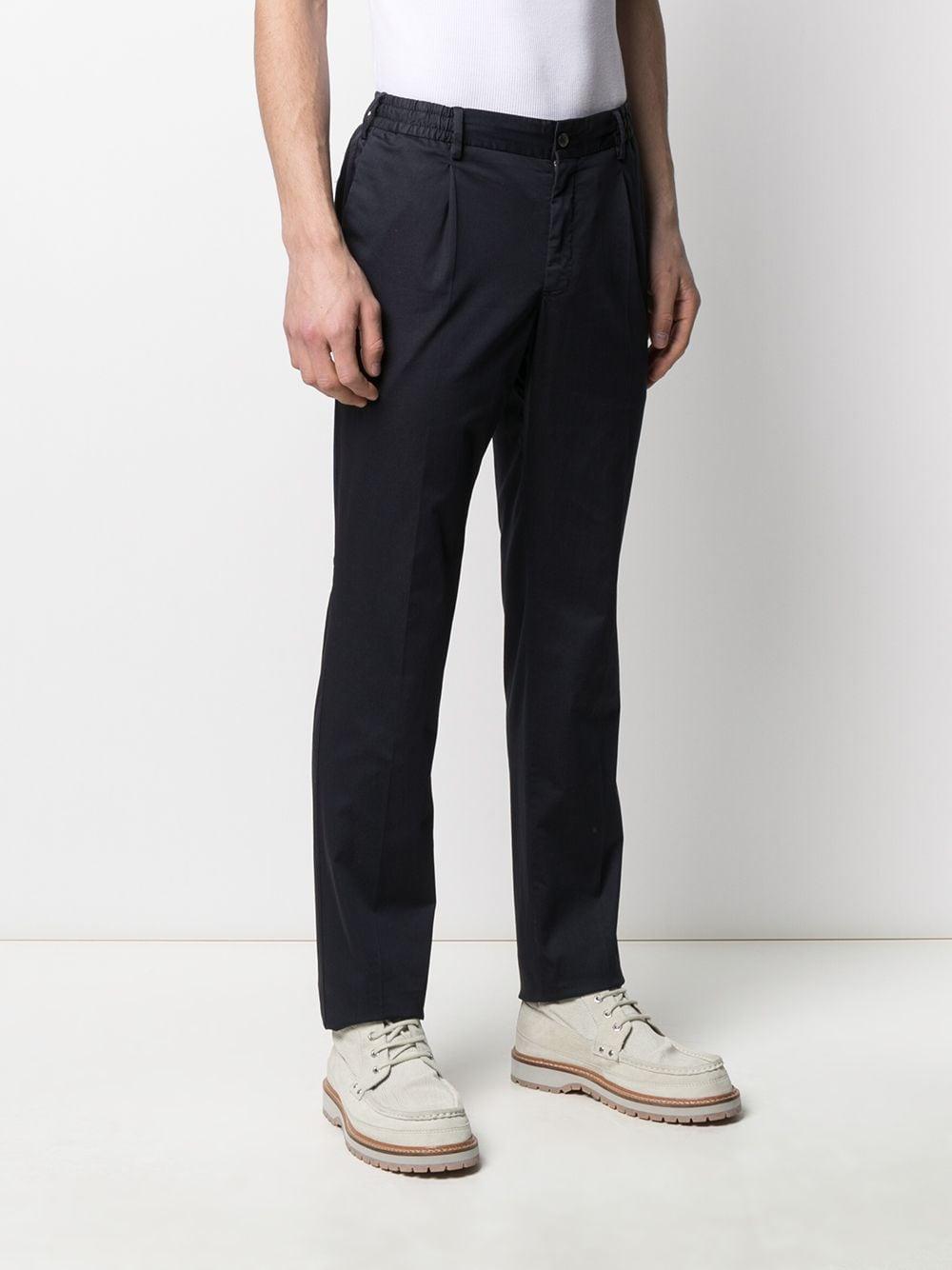 Pantaloni chino blu in misto cotone PT01 | Pantaloni | COWTJ1ZA0TVL-NU050374