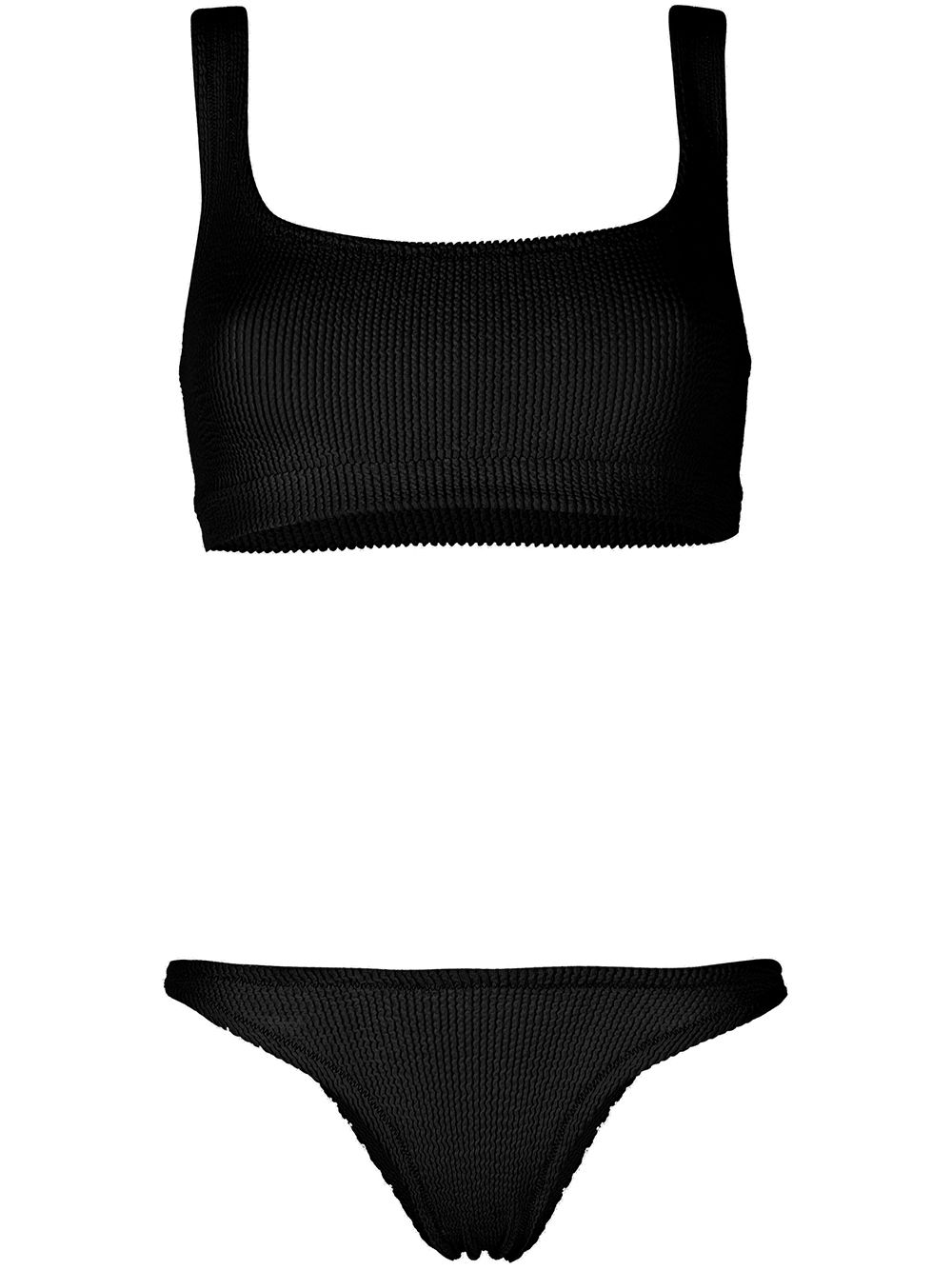 Black polyamide seersucker bikini  REINA OLGA |  | GINNY BOOBSBLACK