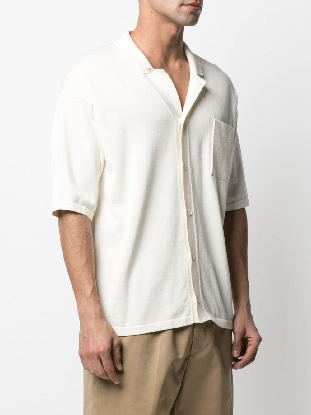 Katte white cotton notched-collar short-sleeve shirt  ROBERTO COLLINA |  | RE1112502