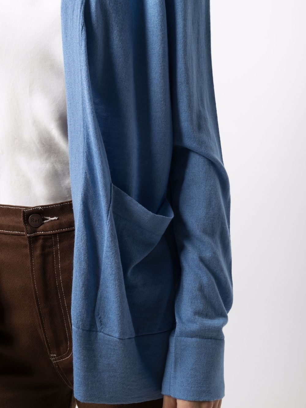 Light blue silk and cashmere open-front rib-trimmed cardigan  SNOBBY SHEEP |  | 21S.90220600
