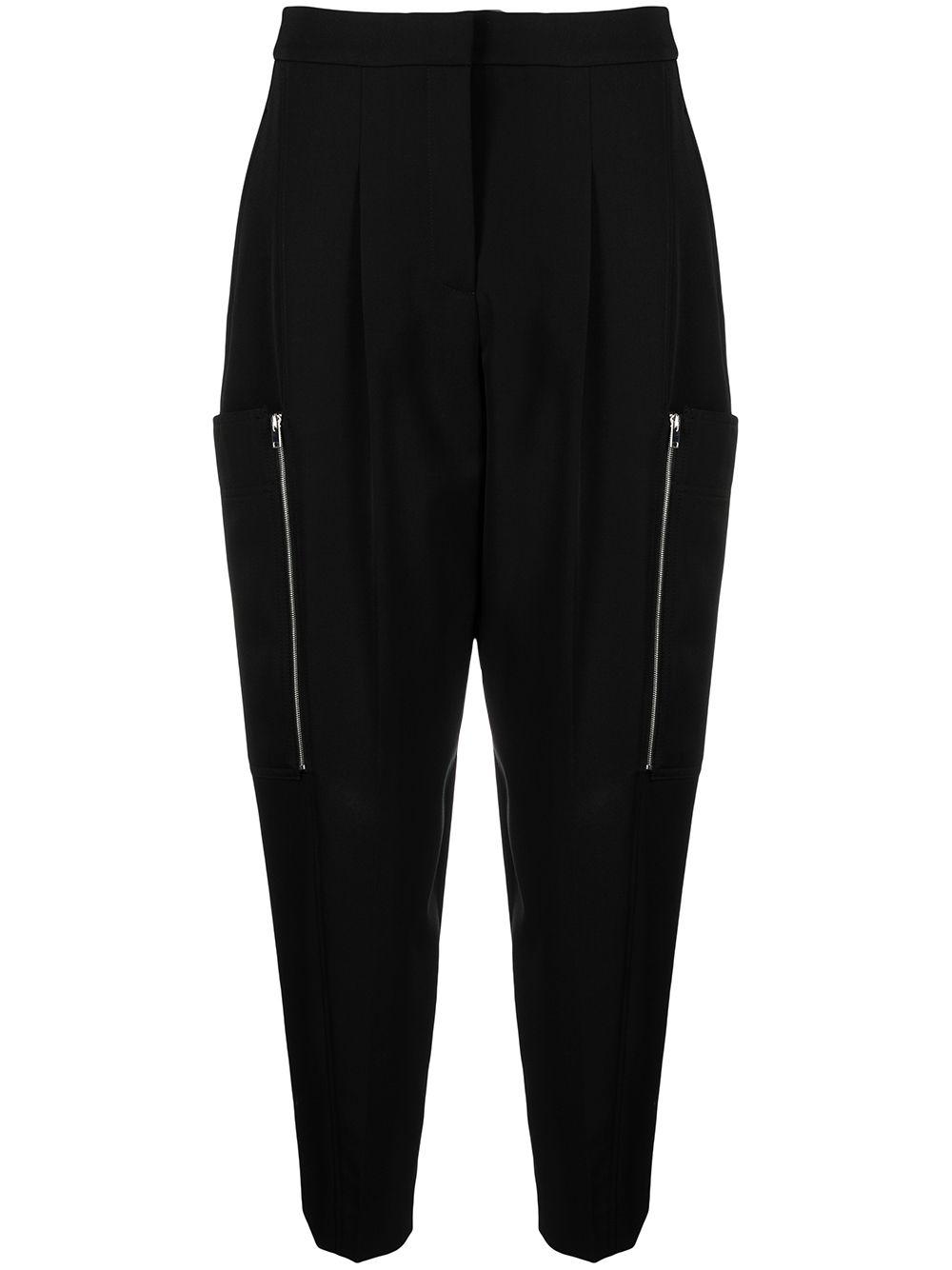 Pantaloni neri in twill di lana Liv con vita alta STELLA MC CARTNEY | Pantaloni | 602929-SPA281000