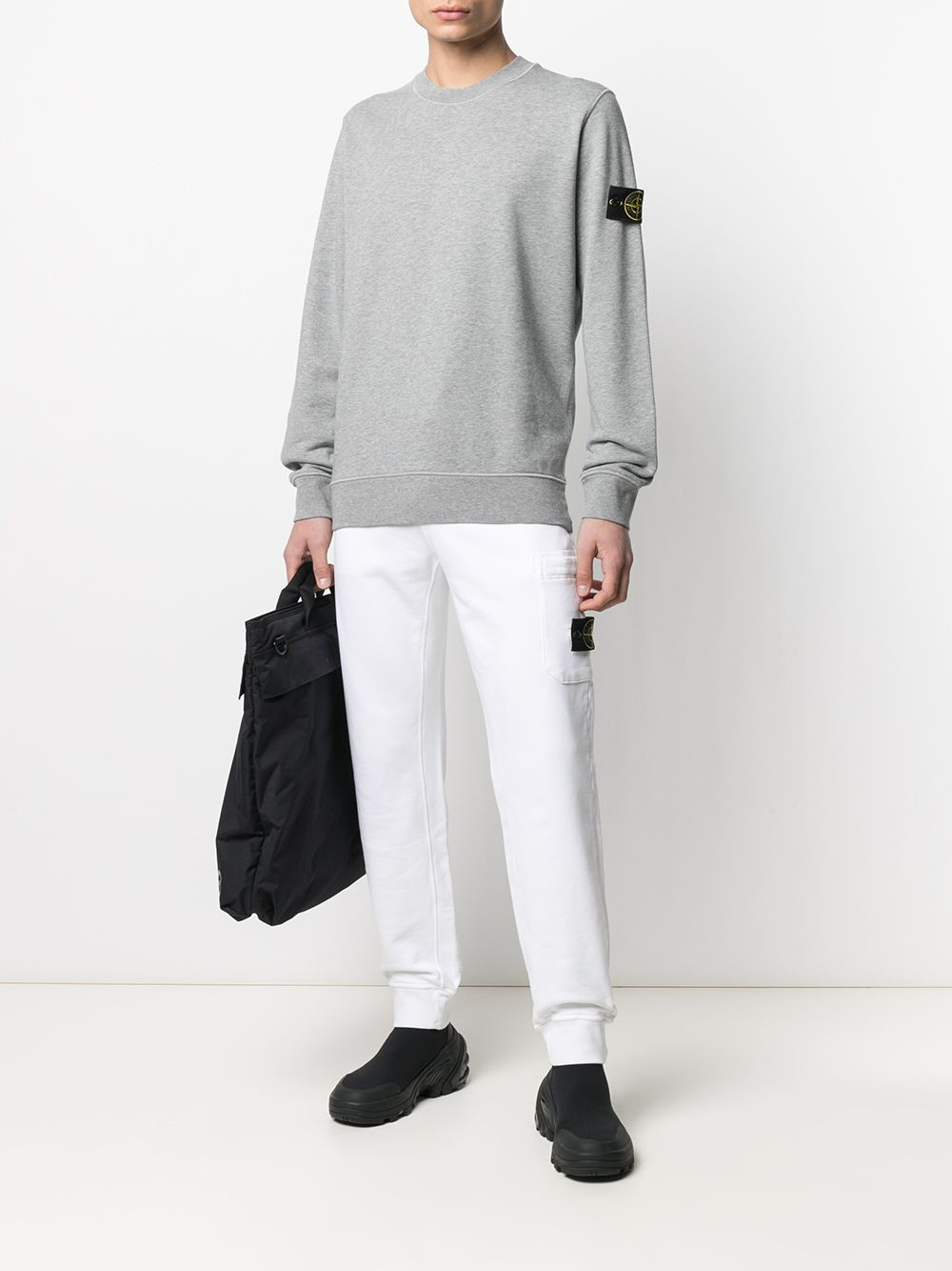 White cotton track pants featuring jersey knit STONE ISLAND |  | 741564551V0001