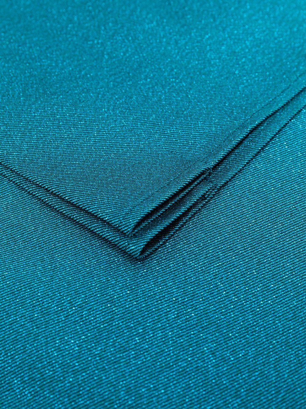 Petroleum blue oversized glitter effect stole TALBOT RUNHOF |  | KITTY9-DG15451