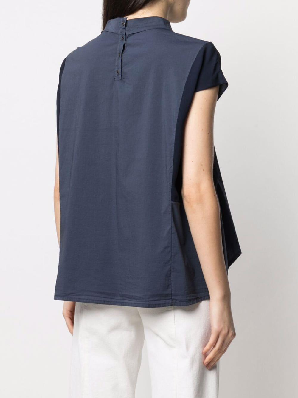 Felpa con collo alto in cotone blu TRANSIT | Camicie | CFDTRN--M22005