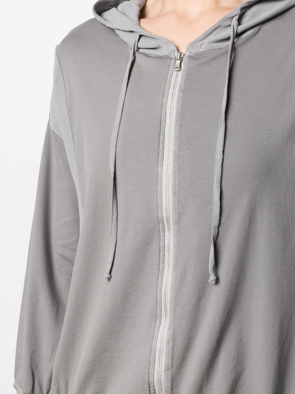 Felpa con cappuccio e coulisse in cotone elasticizzato grigio TRANSIT | Cardigan | CFDTRN-J19912