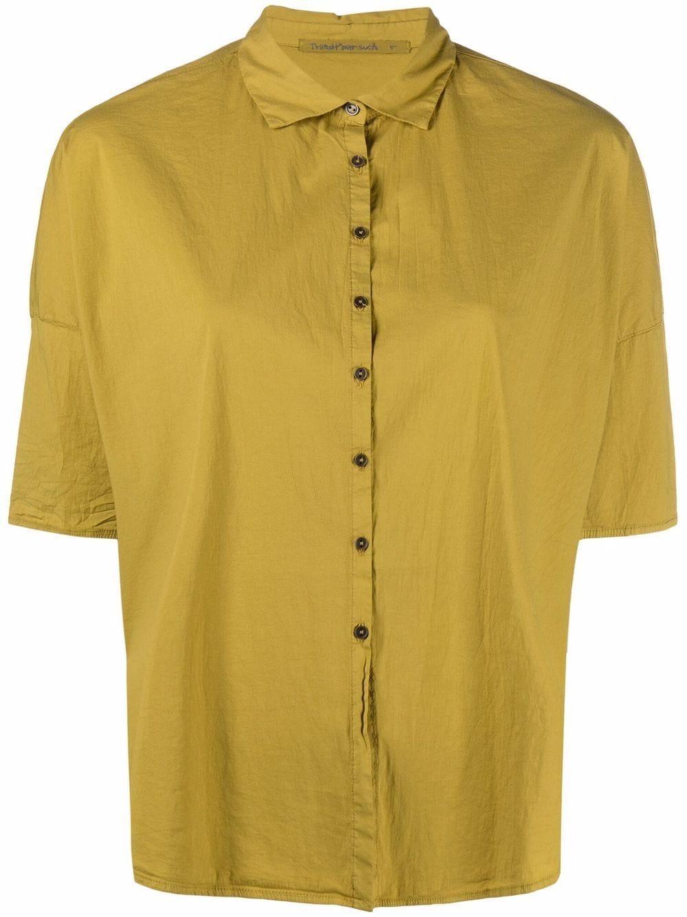 Snape yellow cotton curved-hem shirt  TRANSIT |  | CFDTRN-M22303