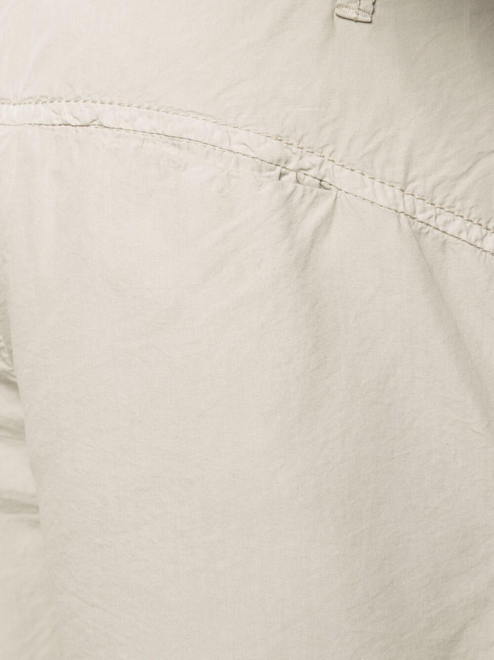 Bermuda in cotone e seta beige chiaro a vita alta TRANSIT | Bermuda | CFUTRN-E142U02