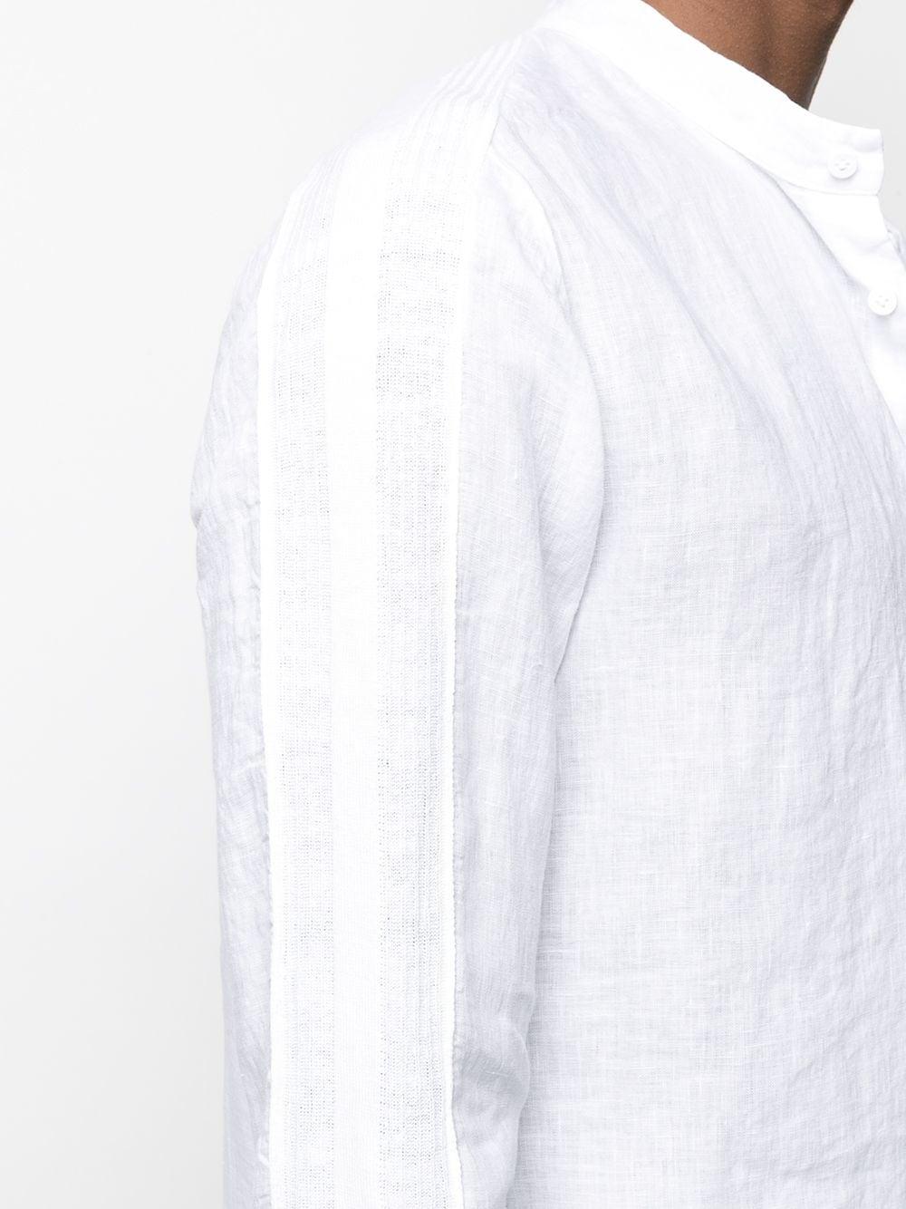 Camicia bianca in lino con collo alla coreana a maniche lunghe TRANSIT | Camicie | CFUTRN-V312U00