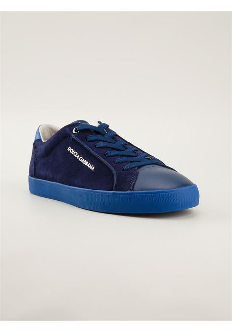 blue leather and suede sneakers with side Dolce & Gabbana gold lettering DOLCE & GABBANA |  | CS1214-AP086BLU