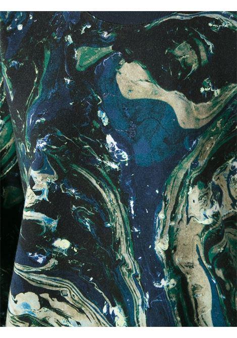 Felpa con stampa effetto marmo multicolore MSGM | Maglieria Moda | 1740MM77-144543BLU-BEIGE