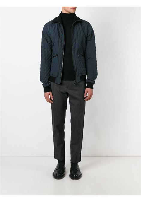 blue quilted bomber jacket with leather trims DOLCE & GABBANA |  | G9EV3T-G7DWLBLU