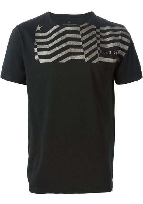 Black cotton gold glitter stripe detail T-shirt   GOLDEN GOOSE |  | G27U527.A2NERO