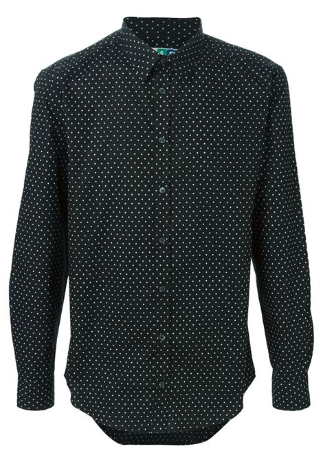 Black cotton shirt with white polka dot  MSGM |  | 1940ME11-154521NERO-BIANCO