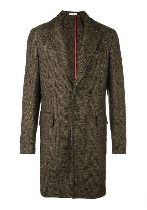 Cappotto monopetto lungo in lana vergine marrone BOGLIOLI | Cappotti | C2701Z-BFC4190351