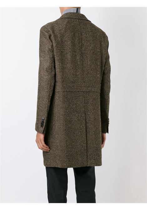 brown long virgin wool single-breasted coat  BOGLIOLI |  | C2701Z-BFC4190351
