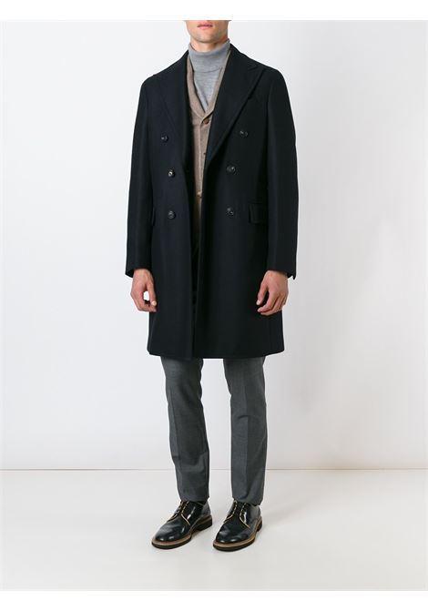 blue long double-breasted coat in virgin wool  BOGLIOLI |  | C3601P-BFC200790