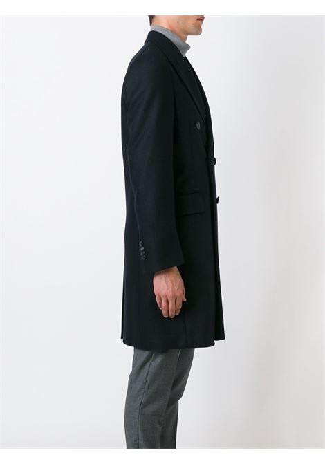 Cappotto doppio petto lungo in lana vergine blu BOGLIOLI | Cappotti | C3601P-BFC200790