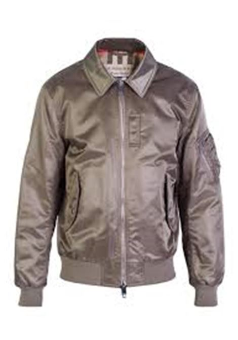 Olive green polyamide bomber jacket with two-way zip fastening BURBERRY |  | 4023612-PIPLEYDARK TAUPE