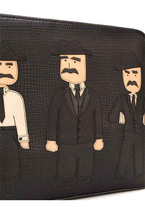 Pochette in pelle nera Sicilian Men DOLCE & GABBANA   Borsa   BM1253-AP92080999