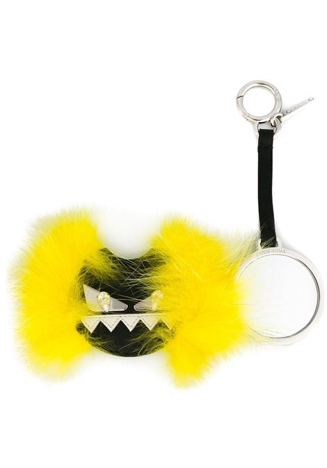 Monster Bug black leather and yellow fox fur keyring FENDI |  | 7AR455-87DF06EE