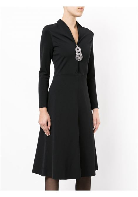black jewellery skater dress with a deep V neck BALENCIAGA |  | 479872-TTK211000